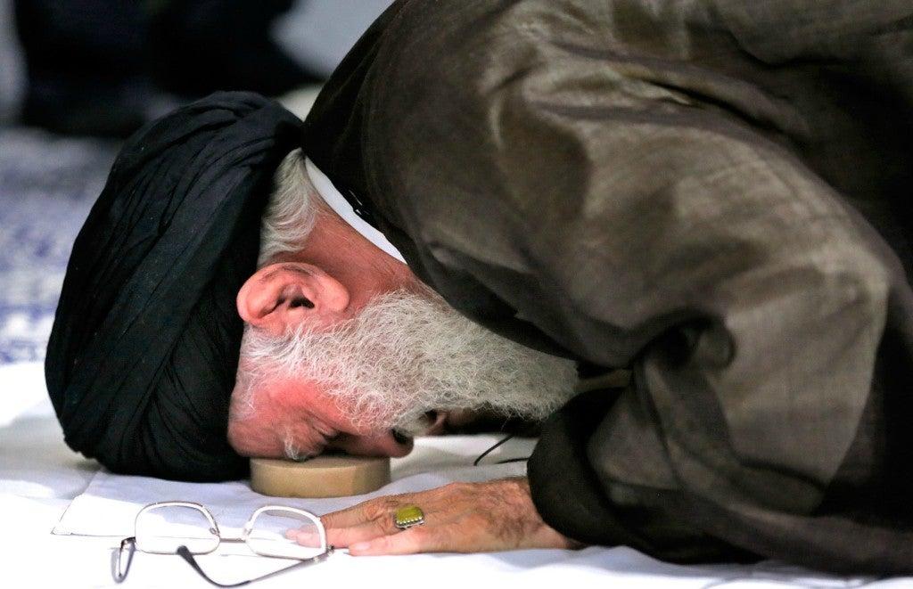 Iran's supreme leader, Ayatollah Ali Khamenei, attends a mass prayer in Tehran. (Photo: Ay-Collection/SIPA/Newscom)