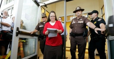 Sept. 14, 2015 - Morehead, Kentucky, U.S. - Rowan County Clerk Kim Davis. (Photo: Pablo Alcala/ZUMA Press/Newscom)