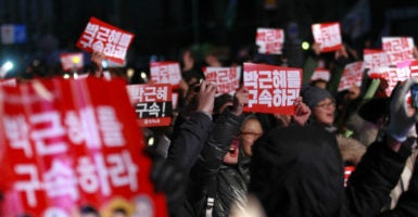 Park Geun-hye will remain in office until the Constitution Court reviews the impeachment proceedings, which could take six months. (Photo: Won-Ki Min / ZUMA Press / Splash News/Newscom)