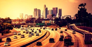 Traffic heading into Downtown Los Angeles (Photo: iStockphoto)