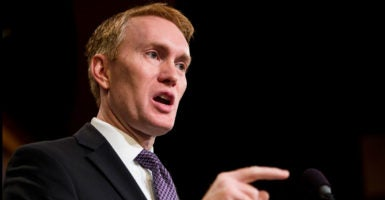 """For two years, Sen. James Lankford, R-Okla., has persisted in fighting to scale back the Obama administration's use of regulatory """"guidance"""" on controversial issues such as transgender restroom use in schools. (Photo: Bill Clark/CQ Roll Call/Newscom)"""