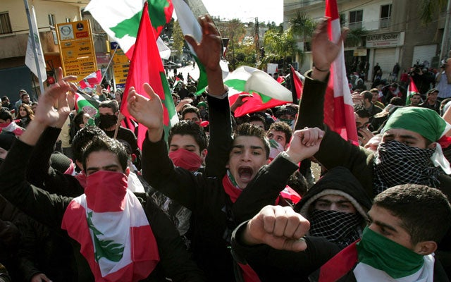 Lebanese protesters, shout slogans against the US (NABIL MOUNZER/EPA/Newscom)