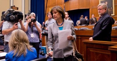 Lois Lerner, former director of exempt organizations for the Internal Revenue Service, at a House Oversight and Government Reform Committee hearing on the investigation of the IRS's targeting of political groups. Lerner invoked her Fifth Amendment right to not testify.(Photo: Tom Williams/CQ Roll Call/Newscom)