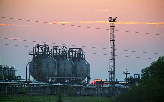 Storage tanks with the Liquefied Natural Gas (Zarembo Igor Itar-Tass Photos/Newscom)