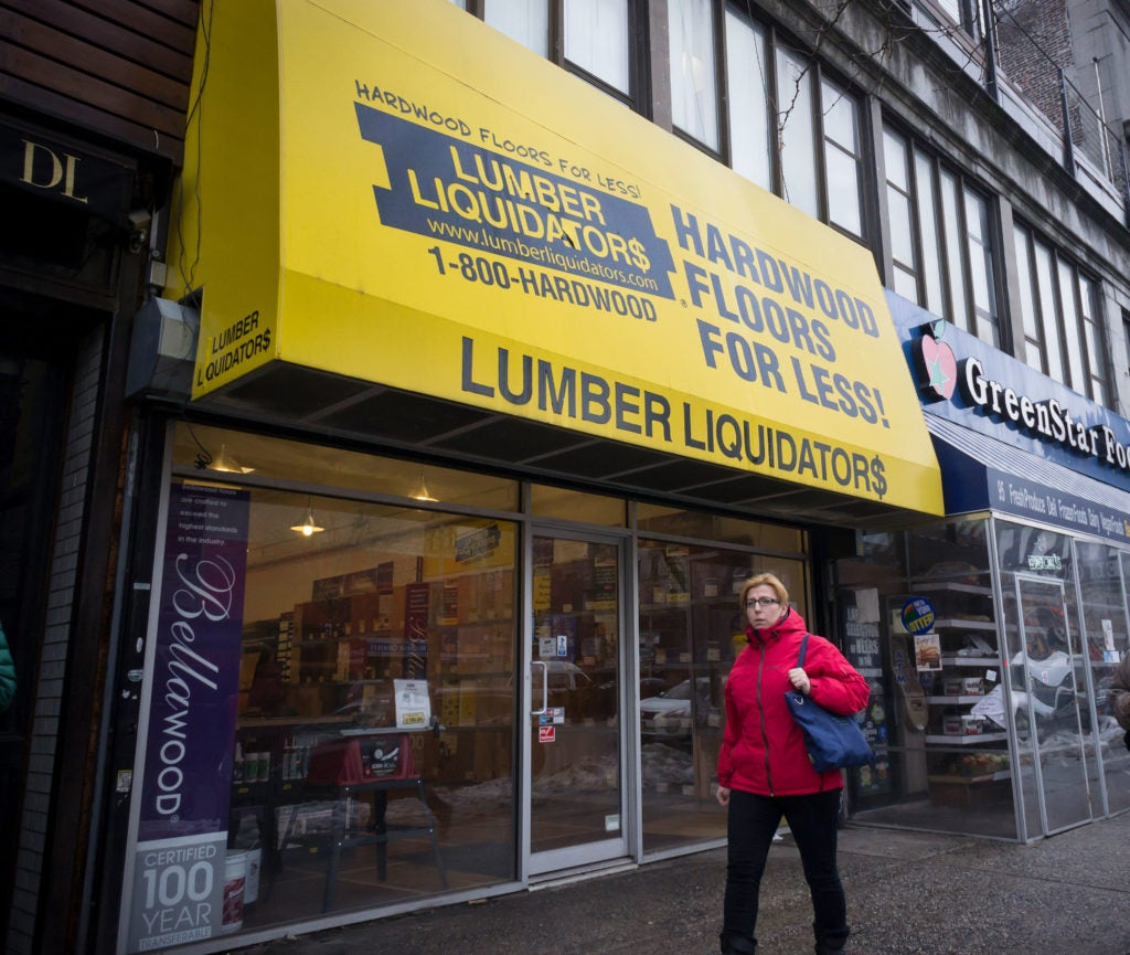 A Lumber Liquidators showroom store in New York City. (Photo: Richard B. Levine/Newscom)