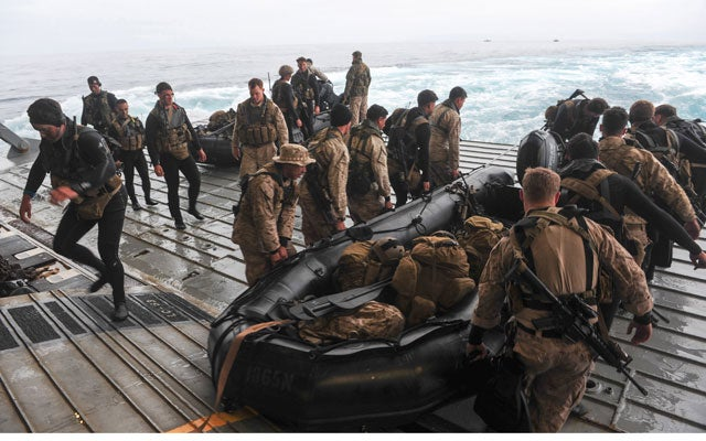 A Marine Expeditionary Unit. (Photo: J. Michael Schwartz, U.S. Navy/DoD/Sipa USA/Newscom)