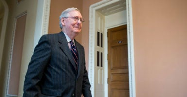 Senate Majority Leader Mitch McConnell led the 14-month effort to replace the late Supreme Court Justice Antonin Scalia with a suitable successor. (Photo: Bill Clark/CQ Roll Call/Newscom)