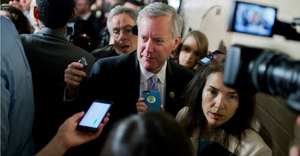 Rep. Mark Meadows, a Freedom Caucus member,  put pressure on outgoing Speaker John Boehner by authoring a motion to oust him. (Photo: Tom Williams/CQ Roll Call)