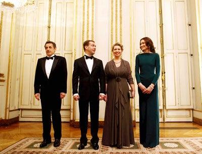 French President Nicolas Sarkozy and Russian President Dmitri Medvedev