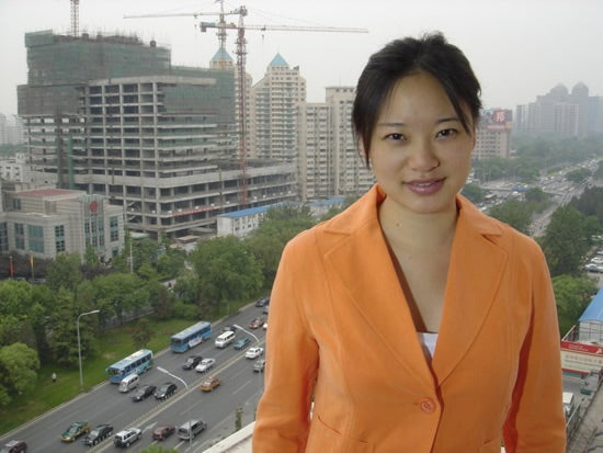 An undated handout picture shows the correspondent of the Arabic broadcaster Al Jazeera Melissa Chan in Bejing, China.