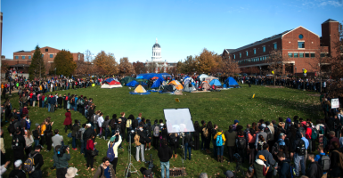 Protests on Monday Nov. 9 at the University of Missouri, in Columbia, Mo. (Photo: Michael)Cali/TNS/Newscom