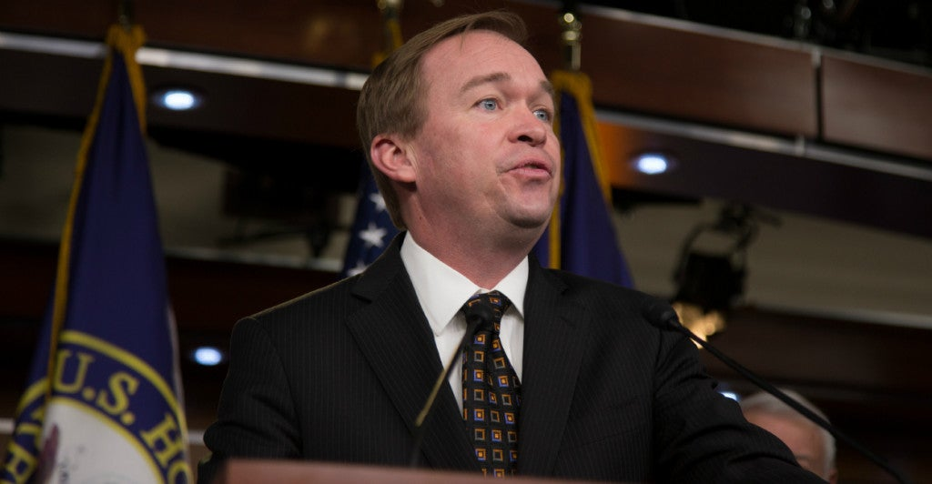 Rep. Mick Mulvaney, a House Freedom Caucus founder, hopes a deal to raise the debt ceiling will include budget savings. (Photo: Jeff Malet Photography/Newscom)