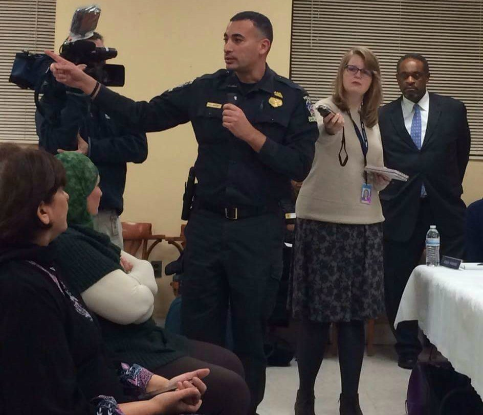 Sharif Hidayat, 42, is the first Muslim officer of the Montgomery County Police Department, where he has worked since 1999. (Photo courtesy of Sharif Hidayat)