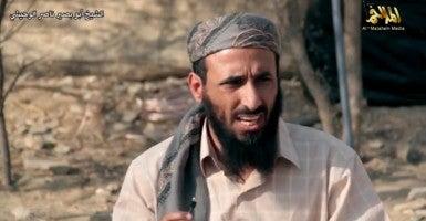 Al Qaeda's second in command Nasier al-Wuhayshi said he would attack the U.S. in a video released March 2014. (Photo: Polaris/Newscom)