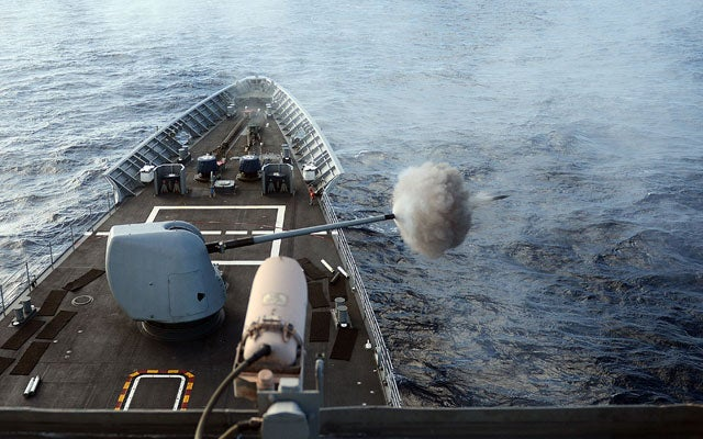 NavyBoat130801 No Longer Science Fiction: Lasers Could Defend Navy Ships in the Near Future