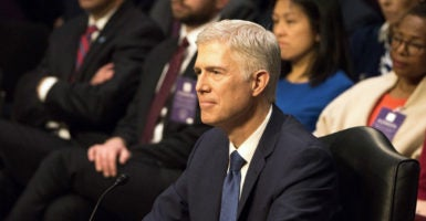 Neil Gorsuch was confirmed to the U.S. Supreme Court in a 54-45 Senate vote on Friday, filling the vacancy left by Justice Antonin Scalia and fulfilling a key campaign pledge by President Donald Trump. (Photo: Patsy Lynch/Polaris/Newscom)