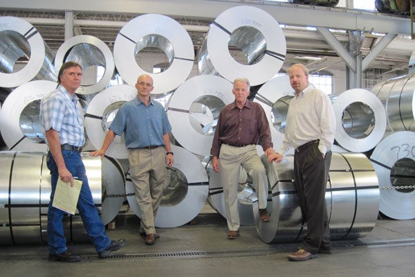 The Newland family, which owns Hercules Industries, won a preliminary injunction against Obamacare's HHS mandate. (Left to right: James, Paul, William, and Andrew Newland; courtesy of ADFmedia.org.)