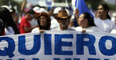 Nicaraguans took to the streets after widespread allegations that the national elections were rigged. (Photo: Jorge Torres/EFE /Newscom)