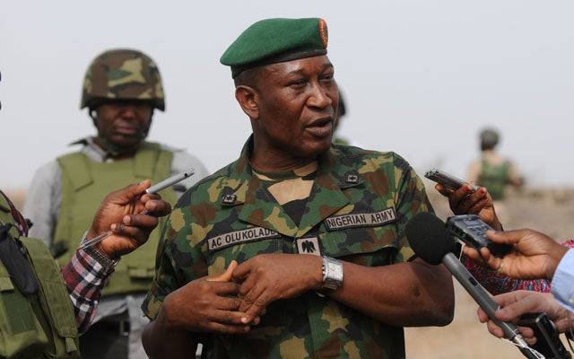 Nigerian Brigadier-General Olukolade Chris (QUENTIN LEBOUCHER/AFP/Getty Images/Newscom)
