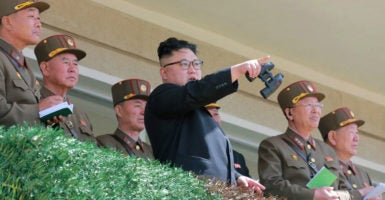 North Korea has threatened to strike U.S. bases in South Korea and the presidential palace in Seoul if the United States attacks first. (Photo: KCNA/Reuters /Newscom)