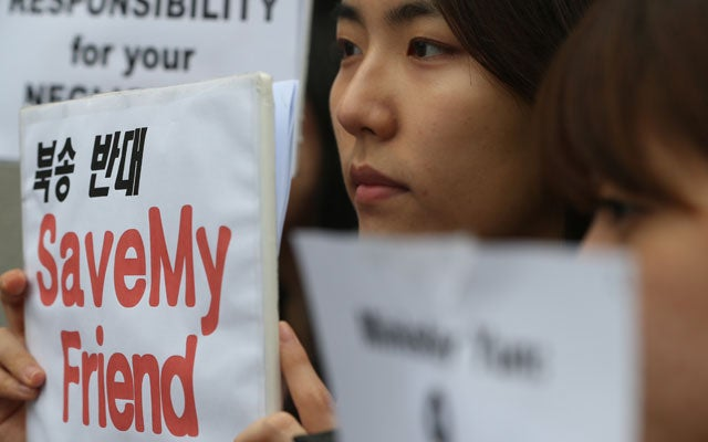 YONHAP/AFP/Getty Images/Newscom