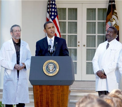 President Obama with Doctors