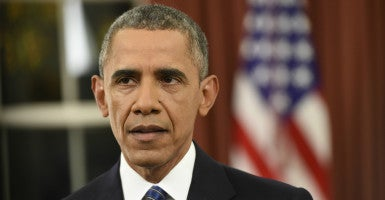 With Congress unlikely to oblige on his calls for gun control after the San Bernardino terrorist attack, President Barack Obama is expected to act alone on the issue soon. (Photo: Saul Loeb/UPI/Newscom)