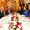 President Barack Obama sits with French President Francois Hollande during a dinner with U.S. Secretary of State John Kerry and French Minister for Ecology, Sustainable Development and Energy Segolene Royal and French Foreign Minister, Laurent Fabius.  Nov. 30, 2015. (Photo: THIBAULT CAMUS/REUTERS/Newscom)
