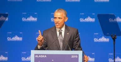 Aug. 21, 2015 - Anchorage, Alaska, President Obama speaks at GLACIER Conference. (Photo: Ron Levy/ZUMA Press/Newscom)
