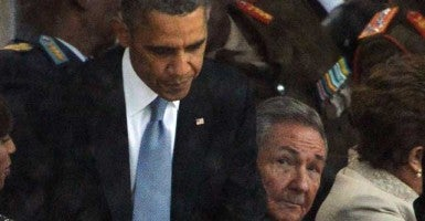 President Barack Obama and Cuban President Raul Castro (ROBERTO SCHMIDT/AFP/Getty Images/Newscom)