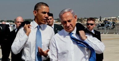 President Barack Obama walks with Israeli Prime Minister Benjamin Netanyahu in 2013. (Photo: Pete Souza/ZUMA Press/Newscom)