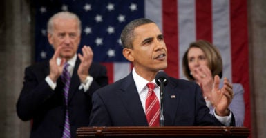 Then-President Barack Obama speaks at the 2010 State of the Union, shortly after passage of Obamacare. (Photo: SIPA USA/SIPA/Newscom)