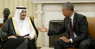 Saudia Arabia's King Salman and U.S. President Barack Obama will meet Wednesday to discuss the partnership between their two countries moving forward. (Photo: Gary Cameron/Reuters/Newscom)