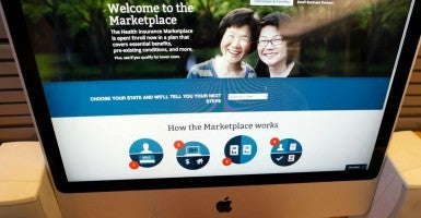 Computer with the Affordable Care Act (commonly known as Obamacare) signup page on the HealthCare.gov website. (Photo: MIKE SEGAR/REUTERS/Newscom)