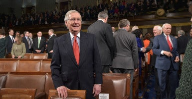 Senate Majority Leader Mitch McConnell, R-Ky., and other members of leadership have a plan to repeal Obamacare that would phase out the expansion of Medicaid. (Photo: Mandel Ngan/CNP/AdMedia/Newscom)