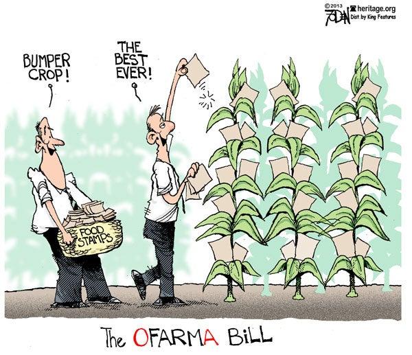 Farm Bill: A Bumper Crop Of Food Stamps