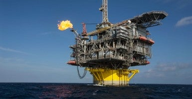 Flame coming off Perdido oil rig in Gulf of Mexico (Photo: Design Pics / Eric Kulin/Eric Kulin/Newscom)