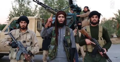 In a propaganda video released on Monday, the Islamic State vowed to attack the United States. (Photo: Polaris/Newscom)