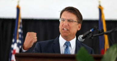 Gov. Pat McCrory, R-N.C., lost his re-election bid by 10,277 out of 4.7 million votes, or two-tenths of 1 percent. (Photo: Jerry Wolford /Polaris/Newscom)
