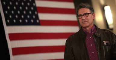 """America is strong because we are a mosaic"":  Rick Perry, the former Texas governor, tells The Daily Signal that  policymakers should engage Muslims constructively. (Photo: Gage Skidmore/Zuma Press/Newscom)"