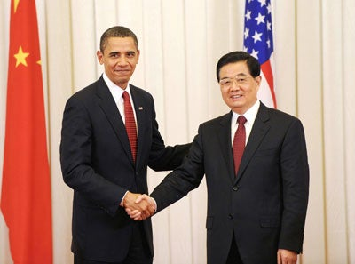 President-Obama and Chinese President Hu Jintao