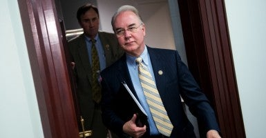 Rep. Tom Price, R-Ga., leaves a meeting of the House Republican Caucus (Photo: Tom Williams/CQ /Roll Call/Newscom)