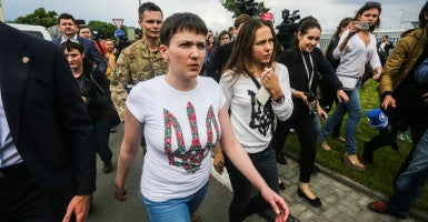 Ukrainian pilot Nadia Savchenko, sentenced in Russia for false charges to 22 years imprisonment, returned to Ukraine. (Photo: Oleksandr Khomenko/ZUMA Press/Newscom)