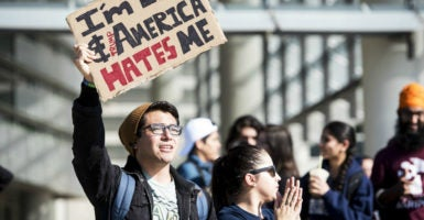 Students at the University of California, Merced, gather to protest the election of President Donald Trump. (Photo: Andrew Kuhn/ZUMA Press/Newscom)