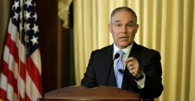 """We are going to once again pay attention to states across this country,"" EPA Administrator Scott Pruitt says. (Photo: Joshua Roberts/Reuters/Newscom)"