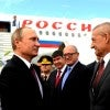 Antalya, Turkey. Nov. 15, 2015. Russia's President Vladimir Putin welcomed at the airport as he arrives for the G20 summit. (Photo: Mikhail Metzel/TASS/Newscom)