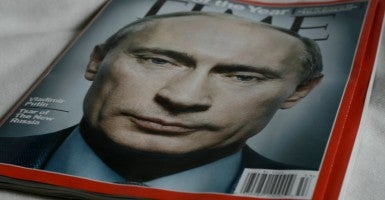 Time Magazine Cover Featuring Russian President Vladimir Putin. (Photo: Flickr / new-york-city / CC BY-NC-ND 2.0)