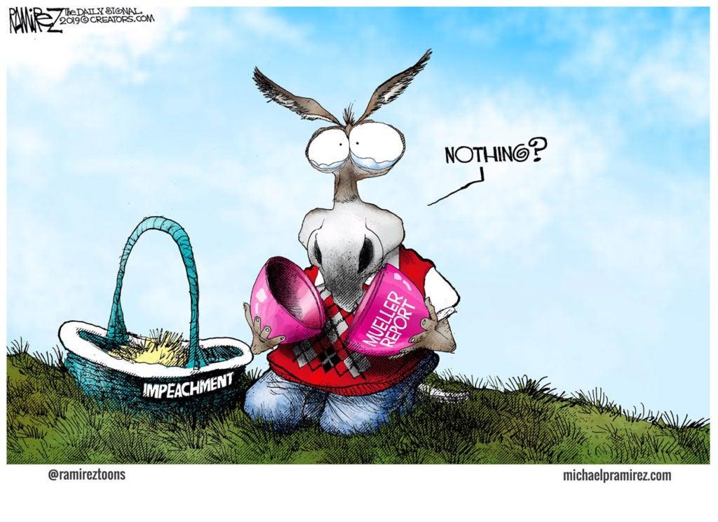Cartoon: Democrats' Basket of Collusion Comes Up Empty