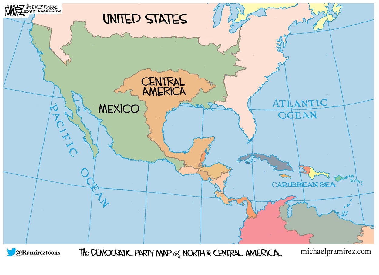 Cartoon: The Left's Map of America   Countable