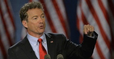 'Many Americans are being left behind': Sen. Rand Paul, R-Ky., announces for president in Louisville.  (Photo: Jamie Rhodes/ UPI Newspictures/Newscom)
